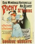 French Advert Vichy Source Regente - Metal Advertising Wall Sign